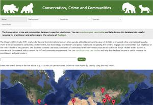 The Conservation, Crime and Communities database (Image: IIED)