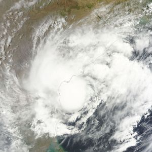 A NASA image of Cyclone Roanu over Bangladesh (Photo: NASA, MODIS/LANCE, via Wikimedia Commons)