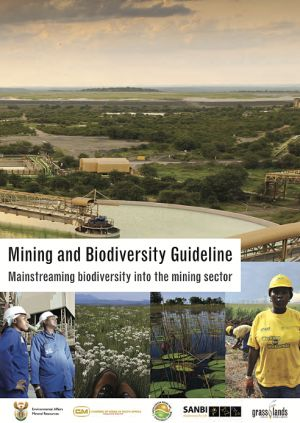 The cover of the Mining and Biodiversity Guidelines
