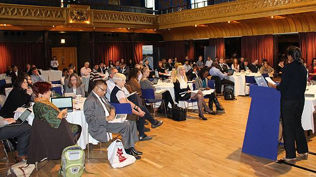 Delegates at the 20th Poverty Environment Partnership (PEP) meeting integrate poverty and environmental issues into the global agenda in Edinburgh in late May (Photo: Matt Wright/IIED)