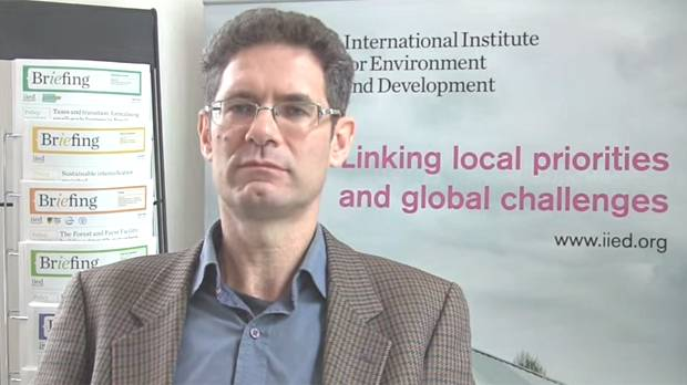 In a video interview, IIED chief economist Paul Steele argues that the universal nature of the goals show that 'development' extends beyond aid (Image: IIED)