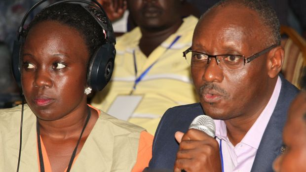 Politicians, farmers, and civil society and church leaders broadcast their commitments to take action to improve food systems live on KRC's radio station, KRC 102 FM The Farmers'Voice. (Photo: Nimrod Bagonza)