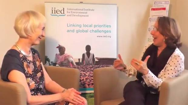 The incoming chair of IIED's board of trustees, Rebeca Grynspan, discusses her enthusiasm for her new role (Photo: Matt Wright/IIED)
