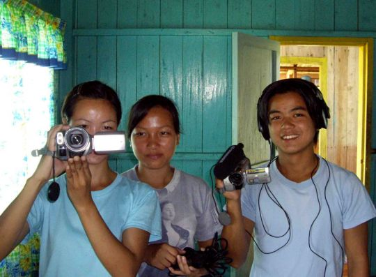 Community researchers trained in participatory video.