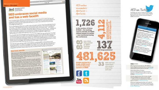IIED online in numbers: April 2011/12