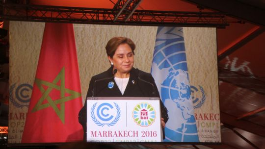 UNFCCC Executive Secretary Patricia Espinosa opens COP22 (Photo: Takver, Creative Commons, via Flickr)