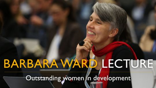 Dr Debra Roberts delivered the 2016 Barbara Ward Lecture (Image: IIED)