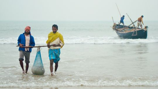 Fishermen offloading their morning catch from a fishing boat in Kalindi, West Bengal (Photo: Souvik Das Gupta, Creative Commons via Flickr)