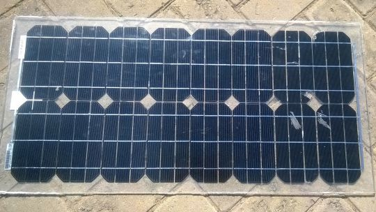 The front of a solar panel in Tanzania, where the vast majority of customers are off-grid and have faced an influx of poor quality and sometimes fake energy products (Photo: Godwin Msigwa/Tanzanian Renewable Energy Association (TAREA))