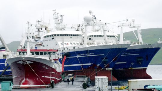 High-tech trawlers in the Faroe Islands. Ninety-five per cent of this tiny nation's exports is made up of fish (Photo: antonalfred, Creative Commons via Flickr)