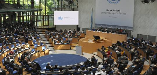 International climate negotiations in Bonn, Germany. Delegates from nearly 200 countries are preparing the text for a global climate deal to be negotiated at the United Nations Climate Change Conference in Paris later this year (Photo: UNclimatechange, Creative Commons via Flickr)
