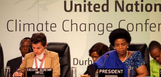 COP17 in Durban: Executive Secretary of the UNFCCC Christiana Figueres and the President of COP17, South Africa's Minister of International Relations and Cooperation, Maite Nkoana-Mashabane (Photo: Michael Mazengarb, Creative Commons via Flickr)