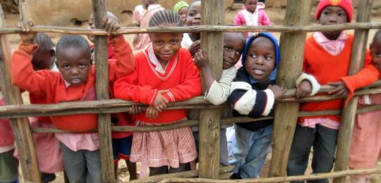 Children at an informal school in the Kibera area of Nairobi. Providing free education is one way to reduce urban poverty (Photo: Christy Gillmore, Creative Commons via Flickr)