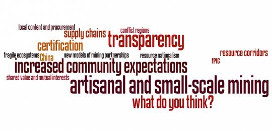 Key words related to mining and sustainable development (Image: IIED)