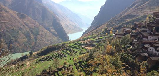 The landscape of Stone Village, Yunnan, southwest China (Photo: Krystyna Swiderska/IIED)