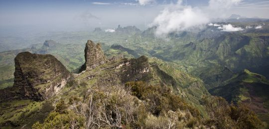 Ethiopia's Simien Mountains National Park is a World Heritage Site, but resource degradation has made lowland areas vulnerable to flooding caused by changing rainfall patterns. (Photo: Hulivili, Creative Commons via Flickr)