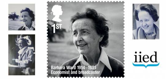 IIED founder Barbara Ward has been honoured with a stamp in the Royal Mail's Remarkable Lives series