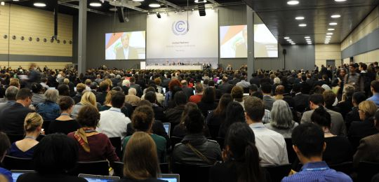 The opening of the UN climate change talks in Bonn in June. The negotiators meet in Bonn again this week (Photo: UNClimatechange, Creative Commons via Flickr)