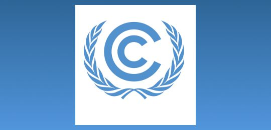 The logo of the United Nations Framework Convention on Climate Change (UNFCCC) (Image: UNFCCC, Creative Commons via Flickr)