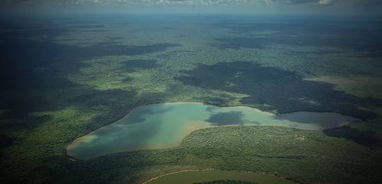 An aerial image of land occupied by members of the Xingu tribe, in Brazil (Photo: Rights and Resources Initiative)