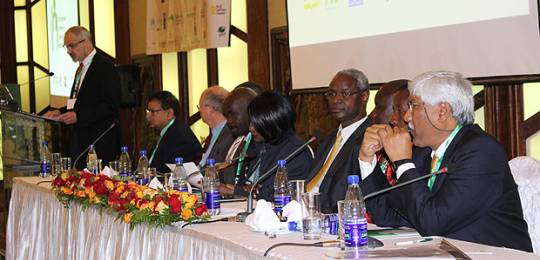 The panel of high-profile speakers at the start of CBA9 (Photo: Matt Wright/IIED)