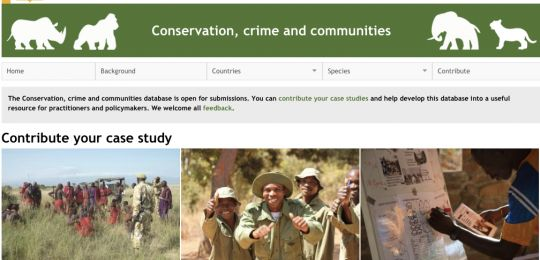 Practitioners and researcchers are invited to share community-based conservation projects on the Conservation, crime and communities website.