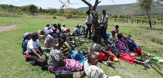 Stakeholder groups, such as this women's group in Kenya, have led to a manual providing detailed guidance for the use of social assessment for protested areas methodology (Photo: Phil Franks/IIED)