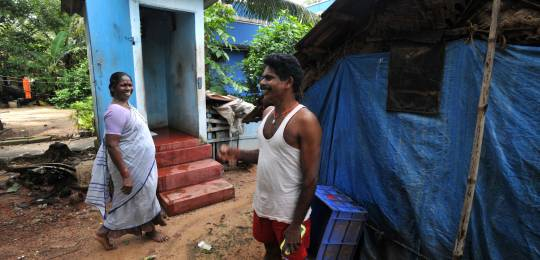 The lives of Vasanthi and Gopal have been transformed by the low-cost toilet provided as part of the Karnataka Urban Development and Coastal Environmental Management Project (Photo: Asian Development Bank, Creative Commons via Flickr)