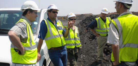 Site discussions to integrate biodiversity into mine planning and operations (Photo: SANBI)
