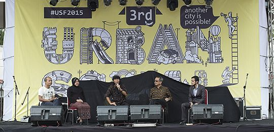 Representatives of Indonesia communities discussed ways to improve urban conditions at the third Urban Social Forum (Photo: Fabrizio Salvatori)