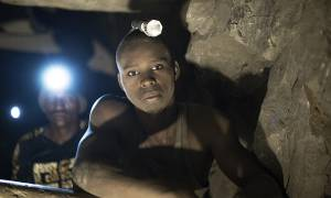 Levocatus Saidi Bujiku has been working as an artisanal miner for about two years (Photo: Brian Sokol/Panos Pictures)