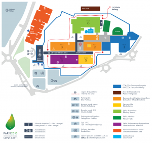 Plan of cop21 conference centre