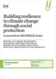 Building resilience to climate change through social protection: Lessons from MGNREGS, India