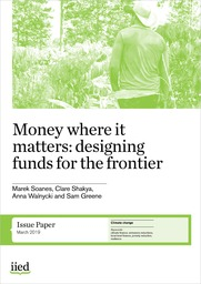 Cover of Money where it matters: designing funds for the frontier