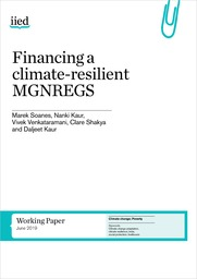 Financing a climate-resilient MGNREGS