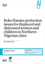 Cover of Boko Haram: protection issues for displaced and distressed women and children in Northern Nigerian cities