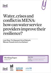 Water, crises and conflict in MENA: how can water service providers improve their resilience?