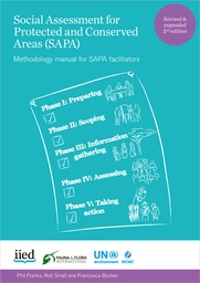 Cover of Social Assessment for Protected and Conserved Areas (SAPA) Methodology manual for SAPA facilitators