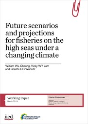 Cover of Future scenarios and projections for fisheries on the high seas under a changing climate
