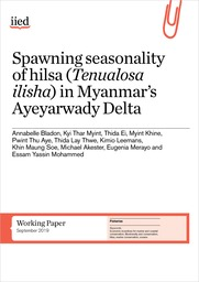 Spawning seasonality of hilsa (Tenualosa ilisha) in Myanmar's Ayeyarwady Delta
