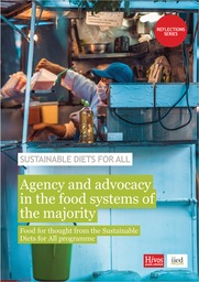 Agency and advocacy in the food systems of the majority: Food for thought from the Sustainable Diets for All programme