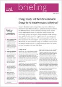 Energy equity: will the UN Sustainable Energy for All initiative make a difference