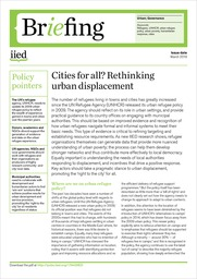Cities for all? Rethinking urban displacement