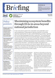 Maximising ecosystem benefits through EIAs in areas beyond national jurisdiction