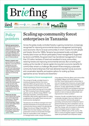 Scaling up community forest enterprises in Tanzania
