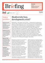 Biodiversity loss, development crisis?