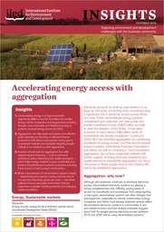 Accelerating energy access with aggregation