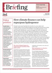 How climate finance can help repurpose hydropower