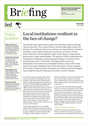 Local institutions: resilient in the face of change?