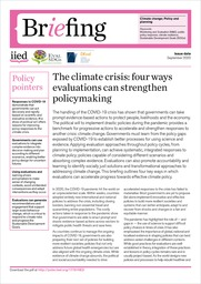 The climate crisis: four ways evaluations can strengthen policymaking